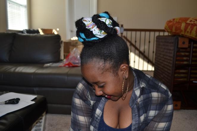 ribbon bun downward 2