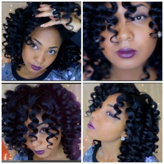India with her Curl Wand curls
